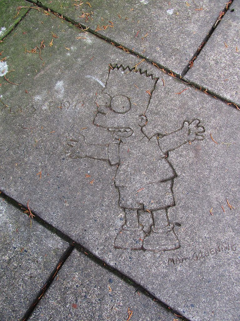 Bart Simpson Sidewalk Art